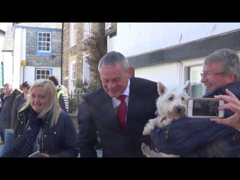 Doc Martin Filming 2017 for Series 8, Port Isaac