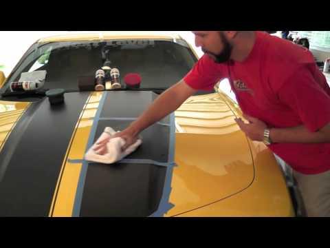How to treat factory vinyl stripes