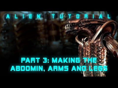 Alien tutorial; Making the abdomen, arms and legs