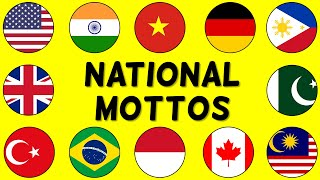 NATIONAL MOTTOS of Countries from Around the World