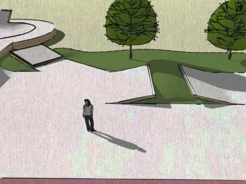 Google Sketchup skatepark design 11