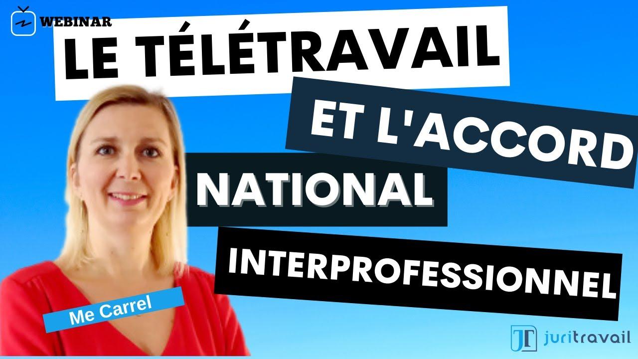 La mise en place du télétravail et l'Accord National Interprofessionnel - Webinar