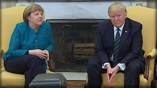 OH MY GOD. DONALD TRUMP JUST GAVE ANGELA MERKEL A GIFT THAT'LL HAVE HER HOWLING!