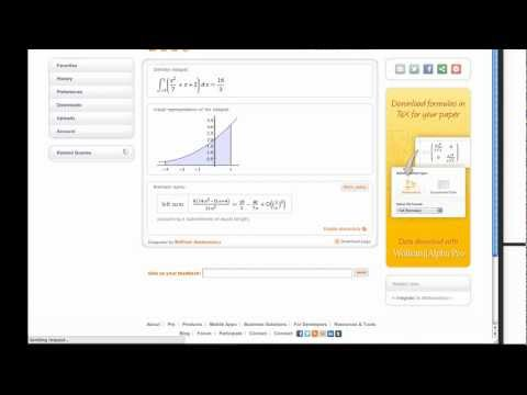 Calculus: Find Area of an Integral .mp4