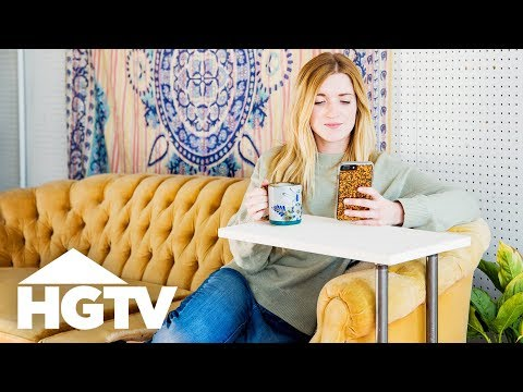 DIY Space-Saving End Table - HGTV Happy