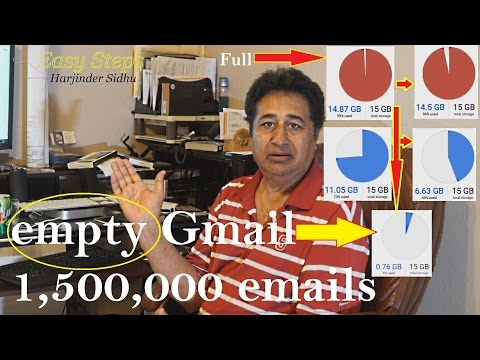How to empty Gmail | Get more space on gmail | How to Delete all Gmail emails