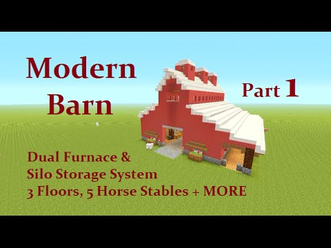 Minecraft Tutorial : Modern Barn Part 1