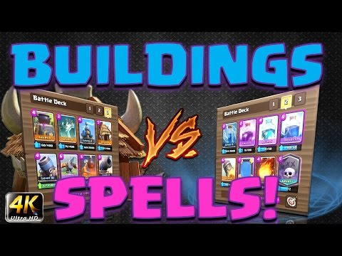 Clash Royale - Challenge! *BUILDINGS V's SPELLS!*