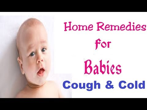 some Home Remedies for cold and cough in babies