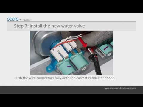 How to Install a Water Inlet Valve on a Top-Load Washer Video: Instructions from Sears PartsDirect