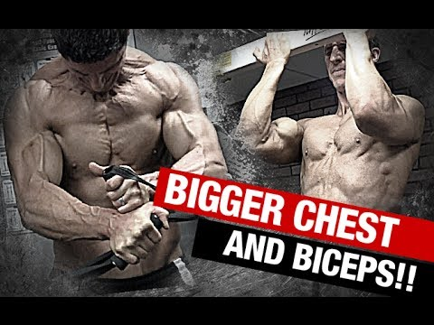 How to Get BIGGER CHEST and BICEPS (Without Moving an Inch!)