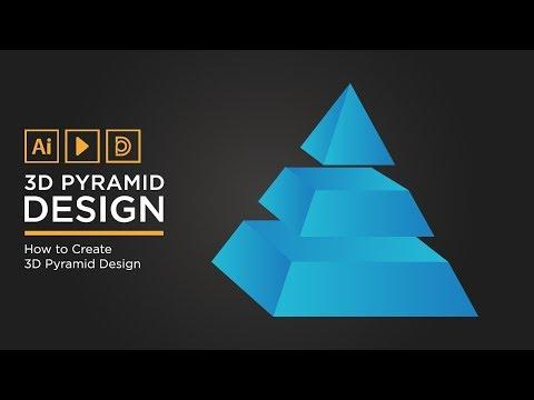How to Create 3D Pyramid | Adobe illustrator Tutorial