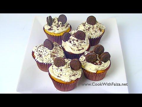 COOKIES & CREAM CUPCAKE *COOK WITH FAIZA*