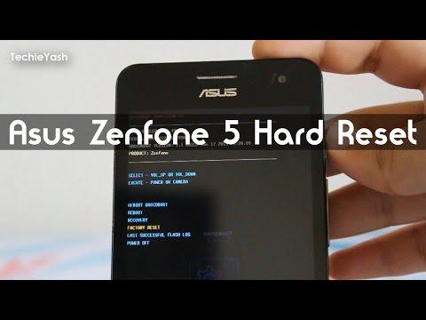 Asus Zenfone 5 Hard Reset via Stock Recovery