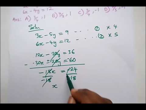 JAMB - Past Questions on Simultaneous Equations
