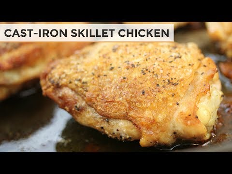 How To Make Chicken in A Cast Iron Skillet | Perfectly Cooked Chicken Thighs