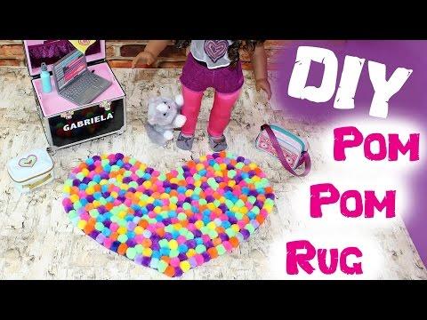 DIY American Girl Doll Pom Pom Rug