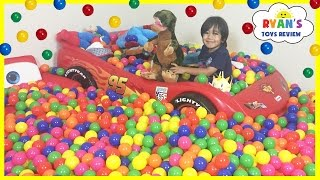 BALL PIT SURPRISE Family Fun Building Ball Pit in our house with Toys for Kids Indoor Activities