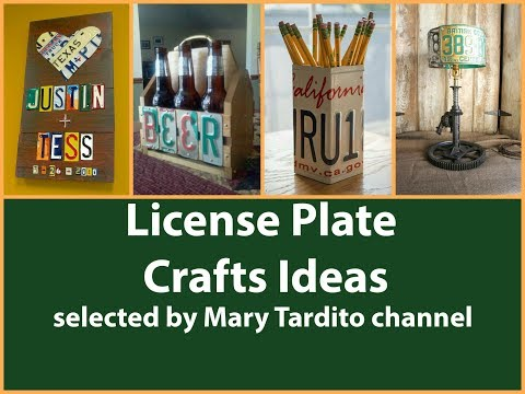 Upcycled License Plate Crafts Ideas - Recycled Home Decor