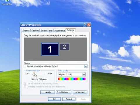 Change Screen Resolution In Windows XP