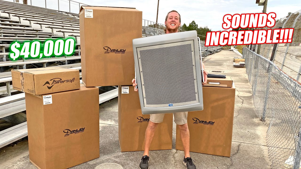 Renovating an Abandoned Racetrack Part 7 - The Freedom Factory Gets a $40,000 Stadium Speaker System