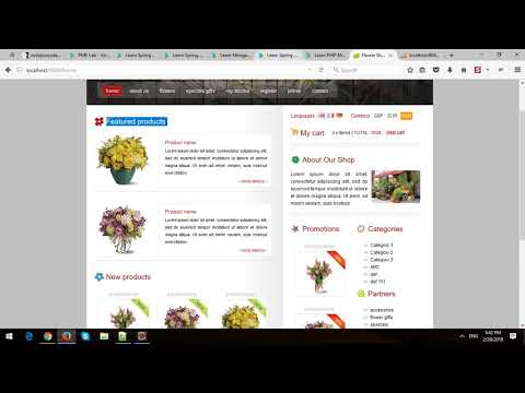 Building  eCommerce Store Using Spring MVC and Spring Data JPA in Spring Boot - Part 3 - Home Page