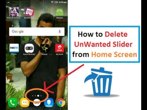 How to Remove Home Screen Android