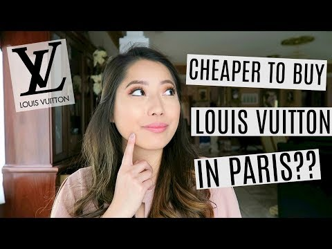 BUYING A LOUIS VUITTON BAG IN PARIS - IS IT CHEAPER?