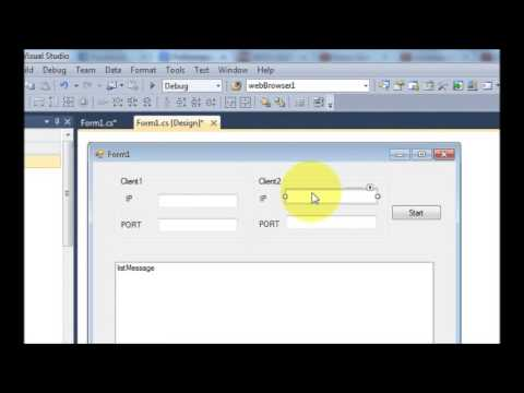 C# Tutorial 79: How to make a Chat Program in C# Part-2/4