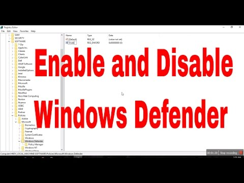 Windows 10:How to Enable and Disable Windows defender  from  Regedit #computerrepair #computerrepair