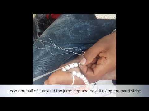 Nylon Thread Multistrand necklace finishing