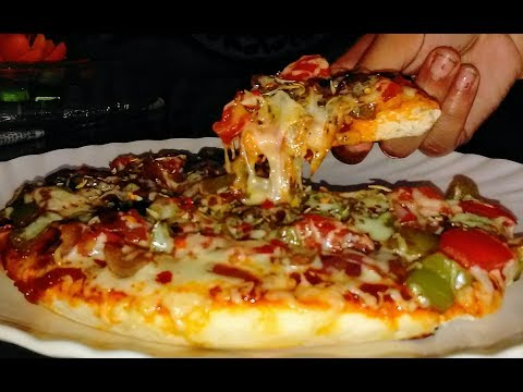 Tawa Pizza Without Oven -Pizza Recipe on Pan -Pizza Recipe-Dominos Style pizza
