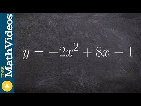 Completing the square to transform from standard to vertex form