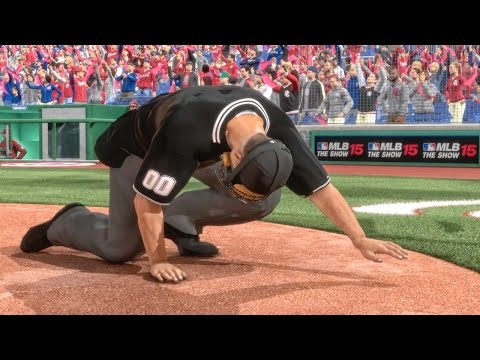 UMPIRE INJURED IN WORLD SERIES! MLB 15 The Show Road to the Show PS4 Gameplay