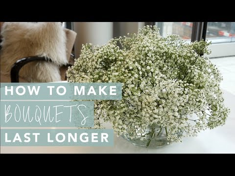How to make a bouquet of flowers last forever