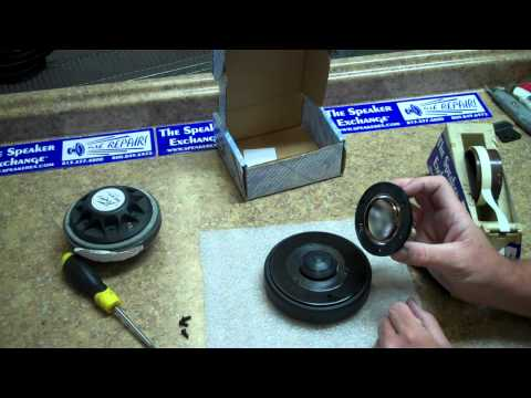 Speaker Repair: Changing a Diaphragm on an Eminence High Frequency Driver