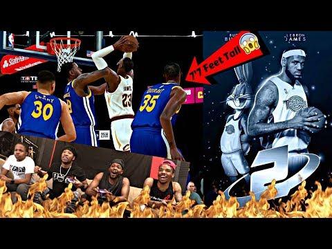 LEBRON JAMES SPACE JAM 2 CHALLENGE! 99 OVERALL LEBRON VS ALL 7'7  WARRIORS PLAYERS! NBA 2K18