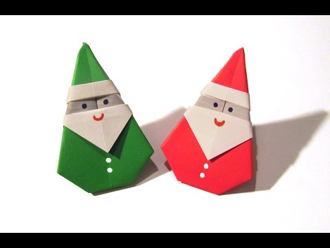 Christmas Origami Santa Claus - Easy origami - How to make an easy origami Santa Claus