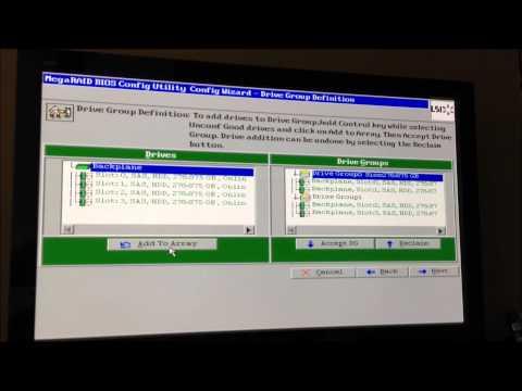 IBM MegaRAID BIOS Config Utility RAID 10 Configuration (System x Express x3300 M4)