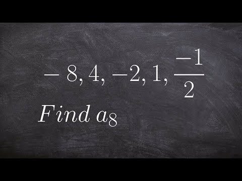 When given a geometric sequence,determine the 8th term by using the explicit formula