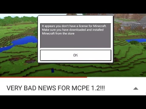 Minecraft pe It appears you don't have a license