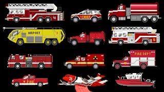 Fire Vehicles - Emergency Vehicles - Fire Trucks - The Kids