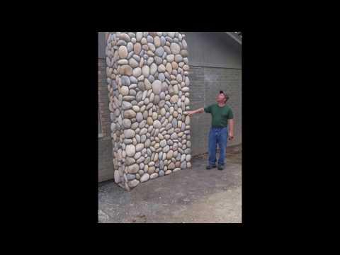 River rock stone chimney addition