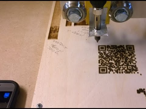 DIY CNC - QR Code Woodburning!