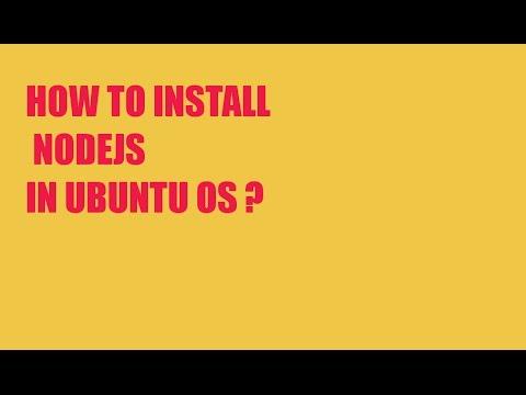 How to install nodejs in ubuntu? (HINDI)