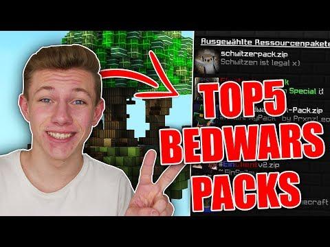 TOP 5 BEDWARS TEXTURE PACKS! YOUTUBER PACKS [1.8 / DOWNLOAD 2017]