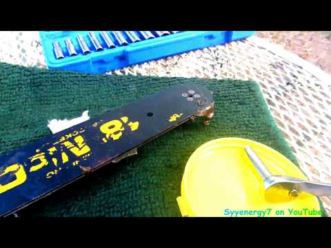 Safely Clean Rust from Chainsaw Chain & Bar sprocket