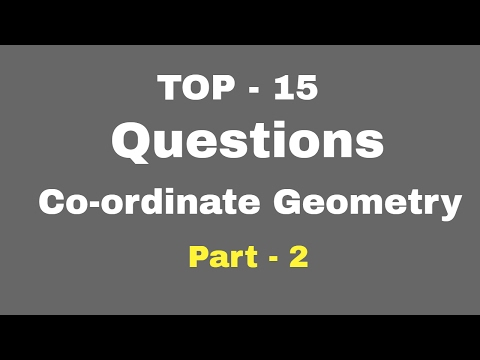 TOP 15 Problems of Coordinate Geometry  for SSC CGL | CHSL | CPO | FCI  PART 1
