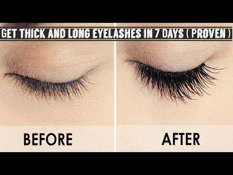 How to get long eyelashes fast / How to get long ang healthy /  Long lashes naturally