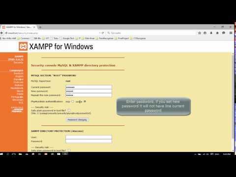 How to set or change password mySQL on xampp